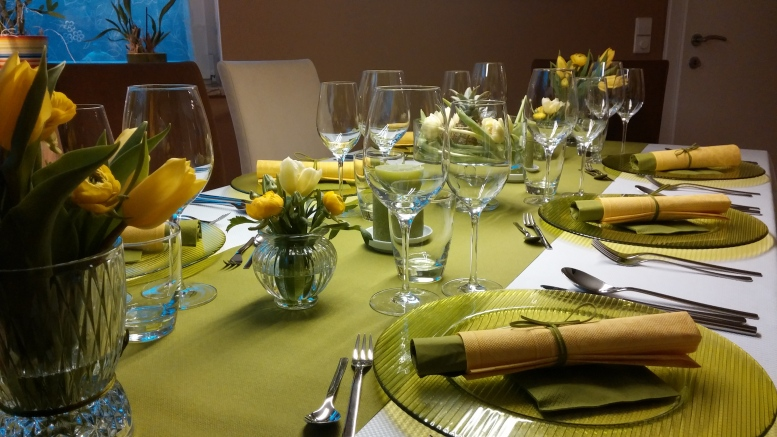 Ein Ausflug nach Italien - Essen mit Freunden