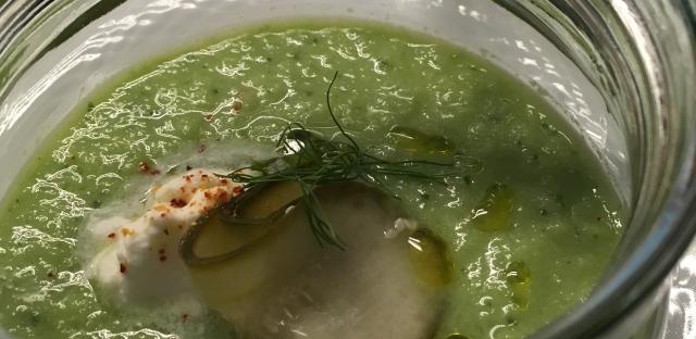 Grüne Gazpacho - gazpacho andaluz
