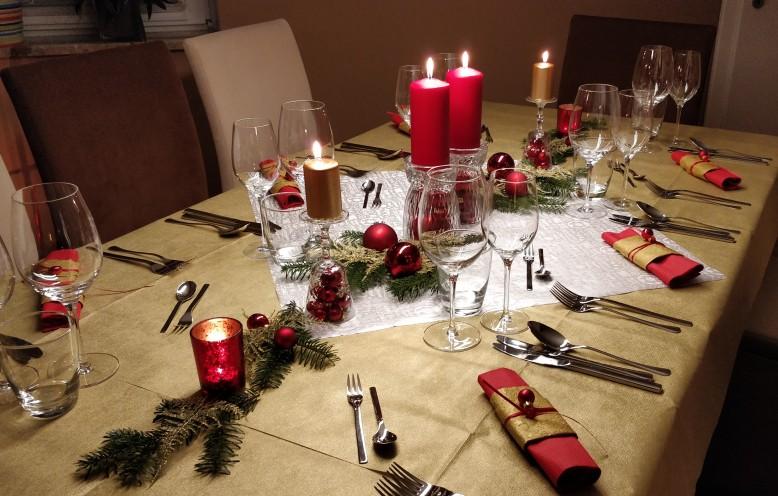 Weihnachtsmenü - Essen mit Freunden
