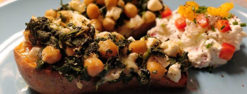 Ofen-Süßkartoffel mit Topfenkas