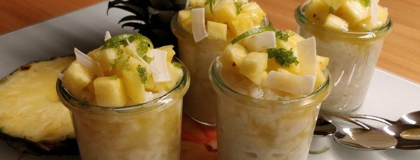 Milchreis | Kokos | Ananas | Limette