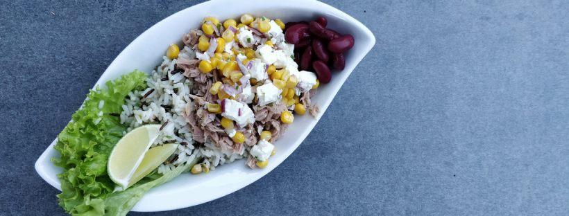 Mexikanische Thunfisch Burrito Bowl