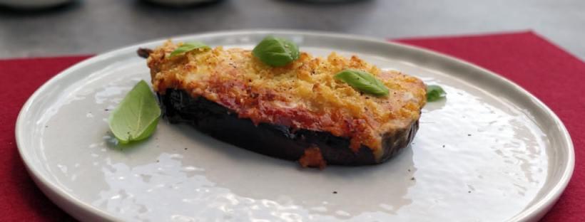Überbackene Melanzani alla parmigiana