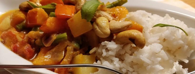 Kürbis-Bohnen-Curry