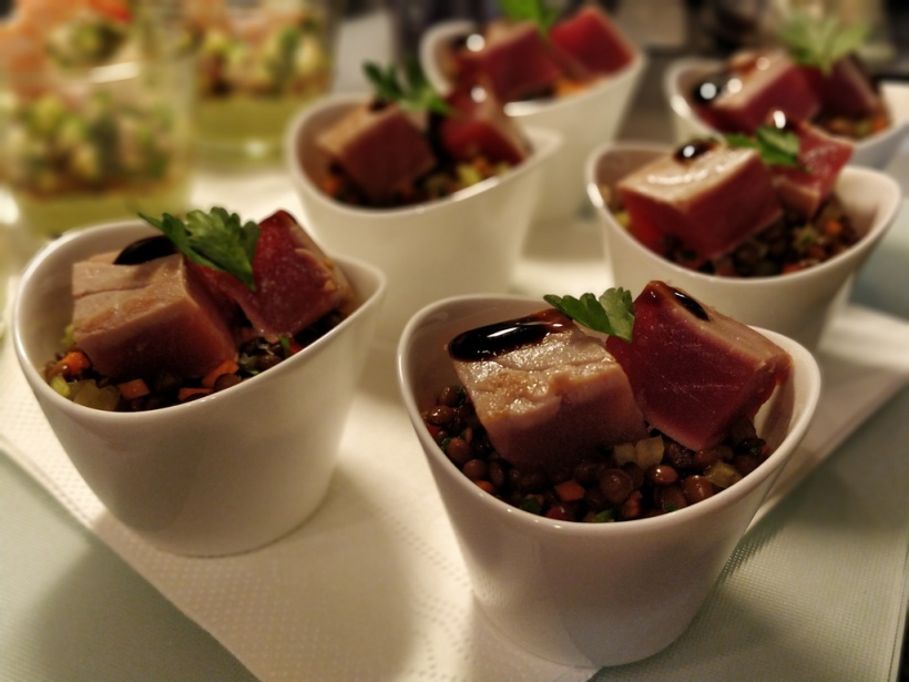 Linsensalat mit Thunfisch