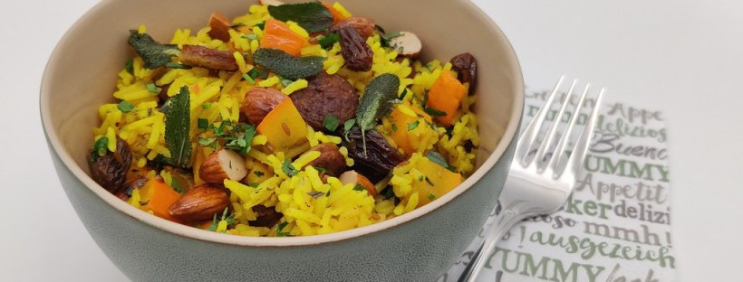 One-Pot-Reispfanne mit Gewürz-Kürbis