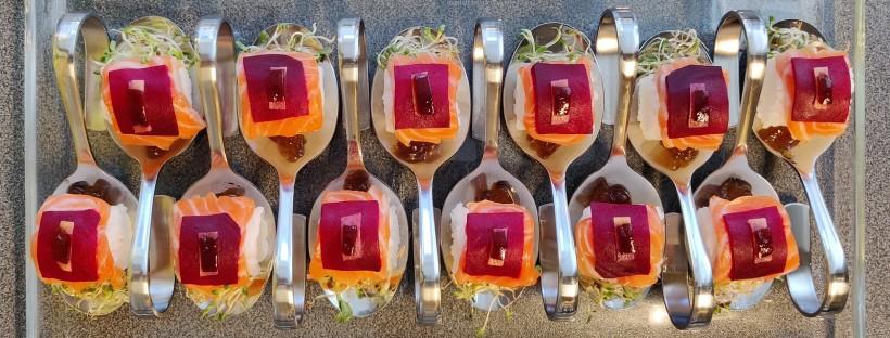 Nigiri-Sushi on a spoon 🇯🇵